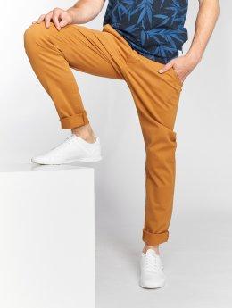 SHINE Original Spodnie wizytowe Stretch  brazowy