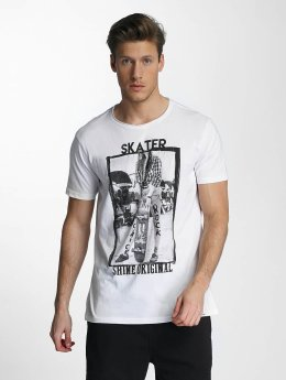 SHINE Original T-Shirt Skater blanc