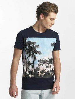 SHINE Original t-shirt Lupe Palm Print blauw