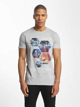 SHINE Original Barret Photo Print T-Shirt Grey Melange