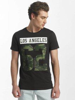 SHINE Original T-Shirt Buster Varsity Print schwarz
