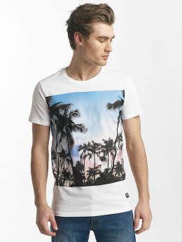 SHINE Original T-Shirt Lupe Palm Print weiß