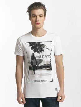 SHINE Original T-Shirt Lupe Palm Print weiß