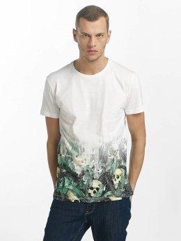 SHINE Original T-Shirt Leonard Gradient Skull Print weiß