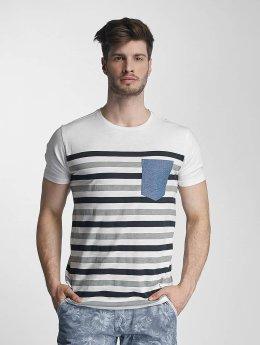 SHINE Original T-shirts Striped grå