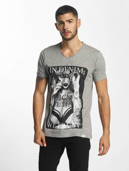 SHINE Original Print T-Shirt True Grey Melange