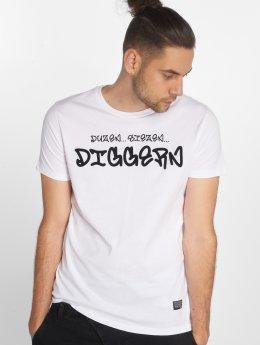 SHINE Original T-skjorter Diggerz hvit