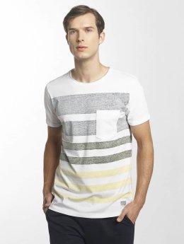 SHINE Original Tričká Faded Stripe biela
