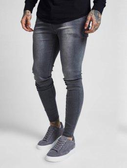 Sik Silk Облегающие джинсы Paul серый