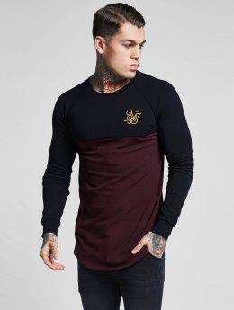 Sik Silk Camiseta de manga larga Raglan Gym negro