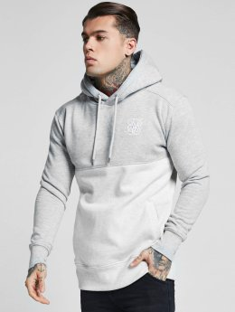Sik Silk Hoodie Drop Shoulder Cut & Sew gray