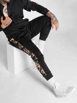 Sik Silk joggingbroek Venetian Taped Cropped zwart