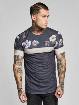 Sik Silk T-paidat Curved Hem Sports harmaa