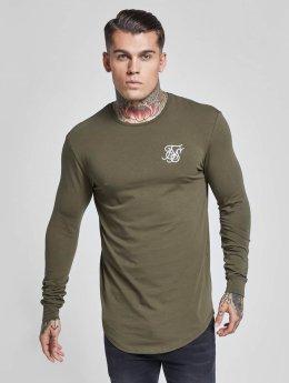 Sik Silk T-Shirt manches longues Gym kaki