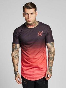 Sik Silk T-Shirt Curved Hem Fade pink