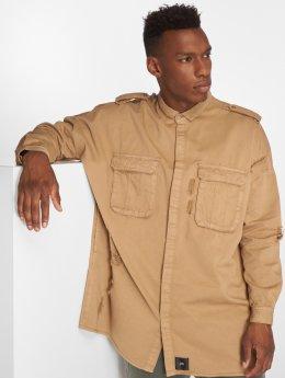 Sixth June Демисезонная куртка Destroyed Oversize коричневый