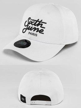 Sixth June Casquette Snapback & Strapback Curved Logo blanc