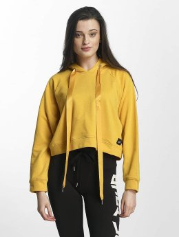 Sixth June Frauen Hoody Cropped Sweat in gelb