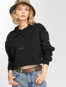 Sixth June Hoody Button schwarz