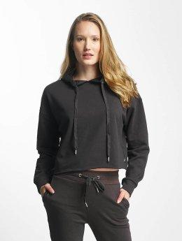 Sixth June Hoody Classic Oversize Cropped zwart