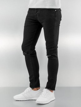 Sixth June Jean skinny Knee Cut noir