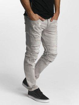 Sixth June Jeans slim fit Skinny Destroyed grigio