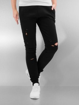 Sixth June Jogginghose Distressed schwarz