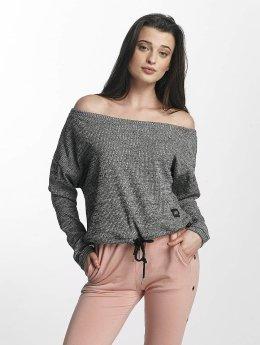 Sixth June Jumper Oversize Cold Shoulder grey