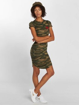 Sixth June Kleid Red Flower camouflage
