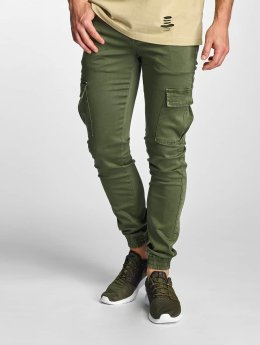 Sixth June Pantalon cargo Cargo Denim kaki