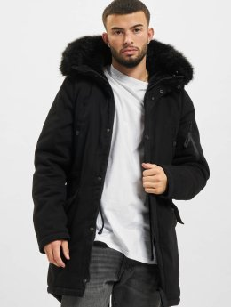 Sixth June Parka Fur schwarz