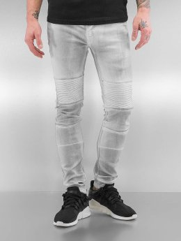 Sixth June Skinny Jeans Biker  bialy