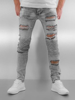 Sixth June Skinny Jeans Radge Biker grau
