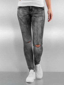 Sixth June Skinny Jeans Tie and Dye grau