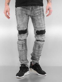 Sixth June Skinny jeans Destroyed KneeCut grijs