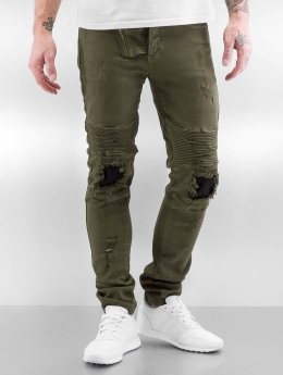 Sixth June Skinny Jeans Destroyed Inside Patch khaki