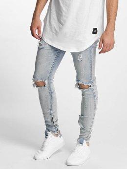 Sixth June Skinny Jeans Destroyed Washed niebieski