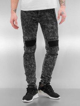 Sixth June Skinny Jeans Destroyed KneeCut Biker schwarz