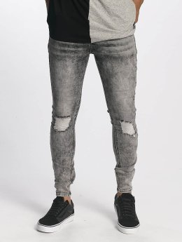 Sixth June Slim Fit Jeans Classic Slimfit grijs