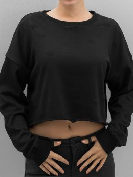 Sixth June Sweat & Pull  Destroyed Cropped noir