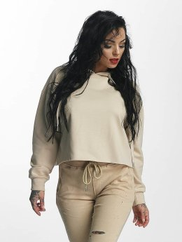 Sixth June Sweat capuche Classic Oversize Cropped beige
