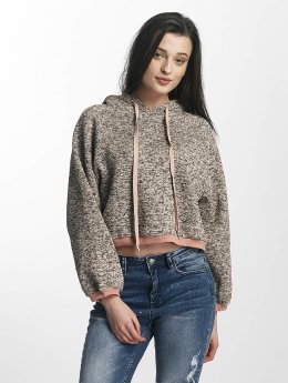 Sixth June Sweat capuche Knit Soft rose