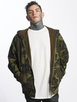 Sixth June Sweat capuche zippé Classic Oversize camouflage