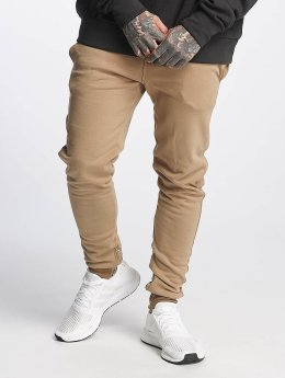 Sixth June Sweat Pant Ankle Zipper beige