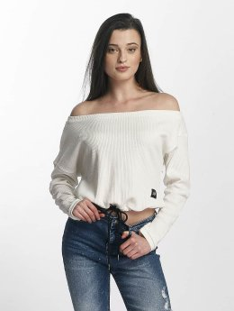 Sixth June Swetry Oversize Cold Shoulder bialy