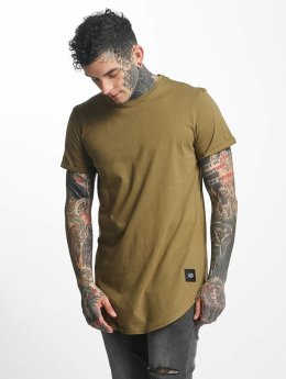Sixth June T-shirt longoversize Rounded Bottom kaki