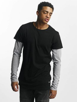 Sixth June T-Shirt manches longues Two Tone Regular noir