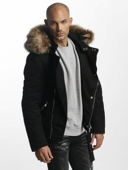 Sixth June Winter Jacket Puffa Perfecto With Biker Yoke black