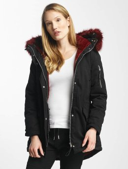 Sixth June Winterjacke Oversize With Fake Fur Hood Classic schwarz