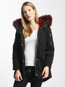 Sixth June winterjas Oversize With Fake Fur Hood Classic zwart